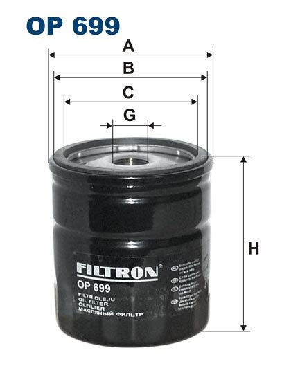 Filtr oleju FILTRON OP699 - darmowa dostawa do 5000 warsztatów Motointegrator Partner i 170 sklepów Inter Cars