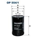 Filtr oleju FILTRON OP554/1