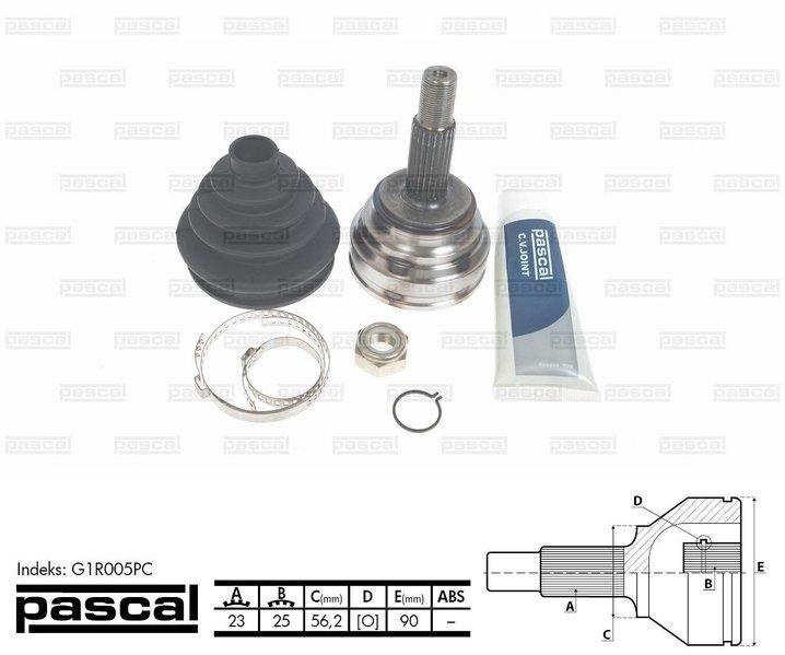 Przegub napędowy zewnętrzny PASCAL G1R005PC - darmowa dostawa do 5000 warsztatów Motointegrator Partner i 170 sklepów Inter Cars