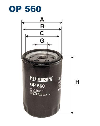 Filtr oleju FILTRON OP560 - darmowa dostawa do 5000 warsztatów Motointegrator Partner i 170 sklepów Inter Cars