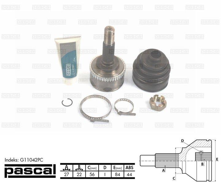Przegub napędowy zewnętrzny PASCAL G11042PC - darmowa dostawa do 5000 warsztatów Motointegrator Partner i 170 sklepów Inter Cars