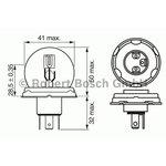 Żarówka (pomocnicza) R2W BOSCH Pure Light - karton 1 szt.