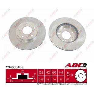 Bremsscheibe ABE C34033ABE, 1 Stück