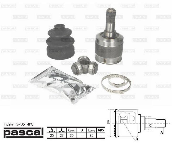 Przegub napędowy wewnętrzny PASCAL G70514PC - darmowa dostawa do 5000 warsztatów Motointegrator Partner i 170 sklepów Inter Cars