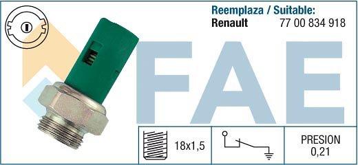 Czujnik ciśnienia oleju FAE 12490
