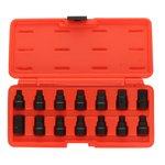 Ölablassschrauben-Stecksatz TOPTUL 14 Stück für Schlüssel 17mm
