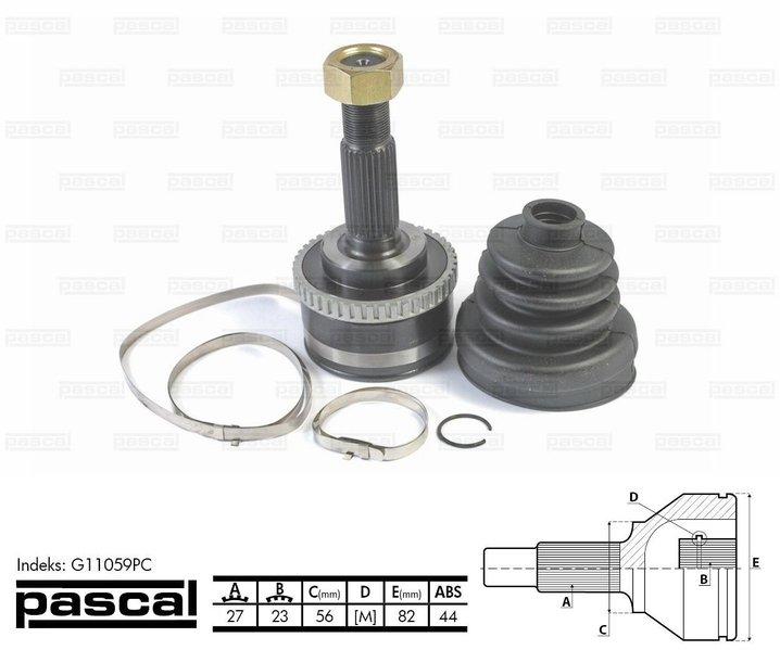 Przegub napędowy zewnętrzny PASCAL G11059PC - darmowa dostawa do 5000 warsztatów Motointegrator Partner i 170 sklepów Inter Cars