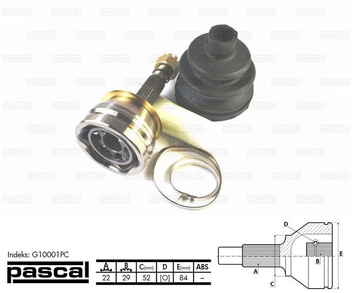 Przegub napędowy zewnętrzny PASCAL G10001PC - darmowa dostawa do 5000 warsztatów Motointegrator Partner i 170 sklepów Inter Cars