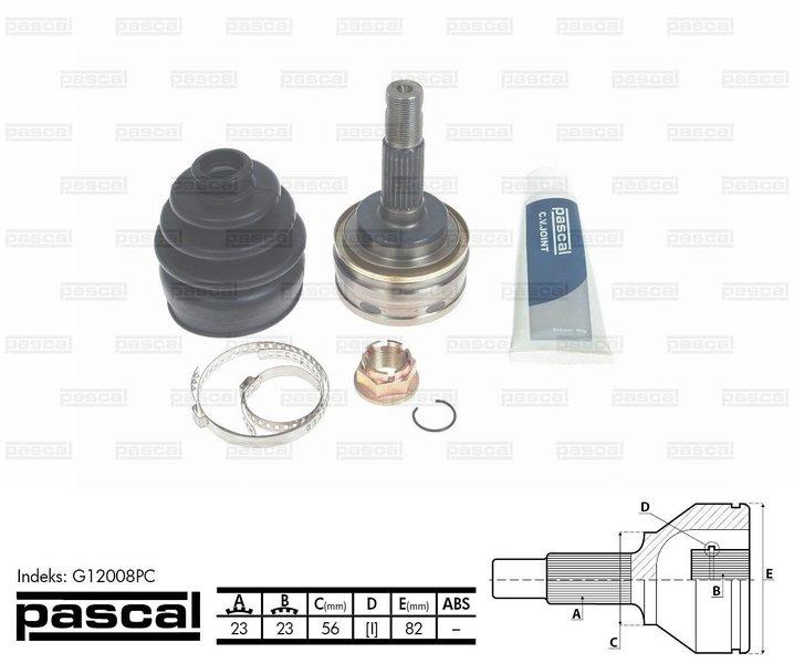 Przegub napędowy zewnętrzny PASCAL G12008PC - darmowa dostawa do 5000 warsztatów Motointegrator Partner i 170 sklepów Inter Cars