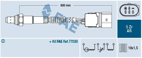 Sonda lambda FAE 75353 - darmowa dostawa do 5000 warsztatów Motointegrator Partner i 170 sklepów Inter Cars
