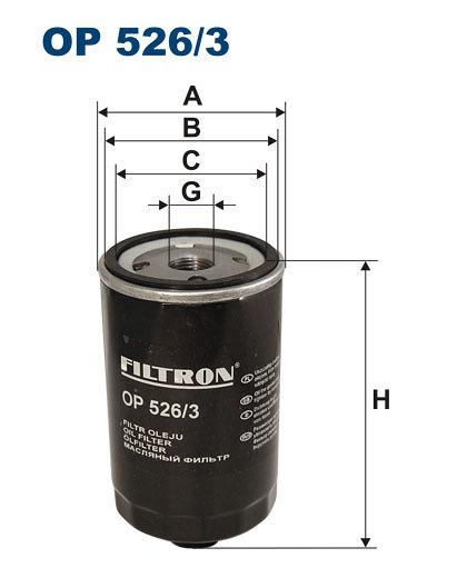 Filtr oleju FILTRON OP526/3 - darmowa dostawa do 5000 warsztatów Motointegrator Partner i 170 sklepów Inter Cars