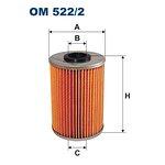 Filtr oleju FILTRON OM522/2