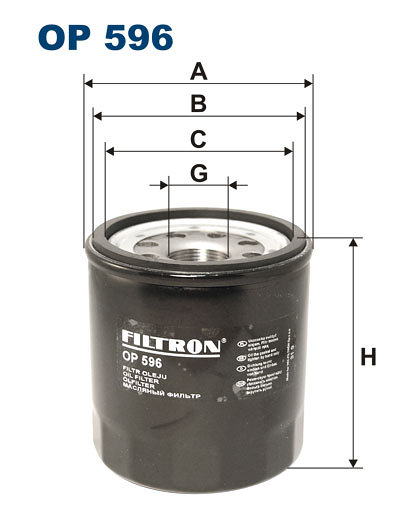 Filtr oleju FILTRON OP596 - darmowa dostawa do 5000 warsztatów Motointegrator Partner i 170 sklepów Inter Cars