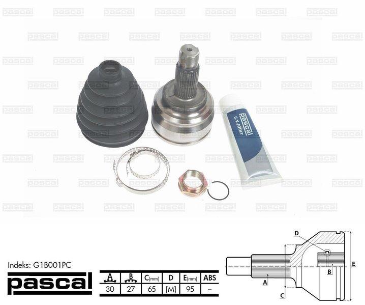 Przegub napędowy zewnętrzny PASCAL G1B001PC - darmowa dostawa do 5000 warsztatów Motointegrator Partner i 170 sklepów Inter Cars