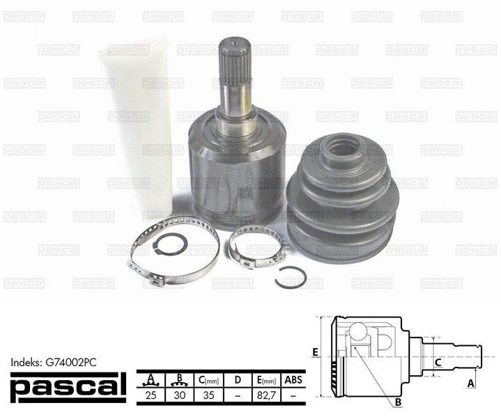 Przegub napędowy zewnętrzny PASCAL G74002PC - darmowa dostawa do 5000 warsztatów Motointegrator Partner i 170 sklepów Inter Cars