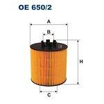 Filtr oleju FILTRON OE650/2