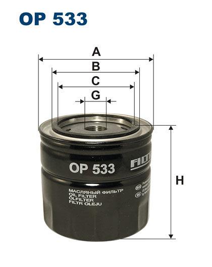 Filtr oleju FILTRON OP533 - darmowa dostawa do 5000 warsztatów Motointegrator Partner i 170 sklepów Inter Cars