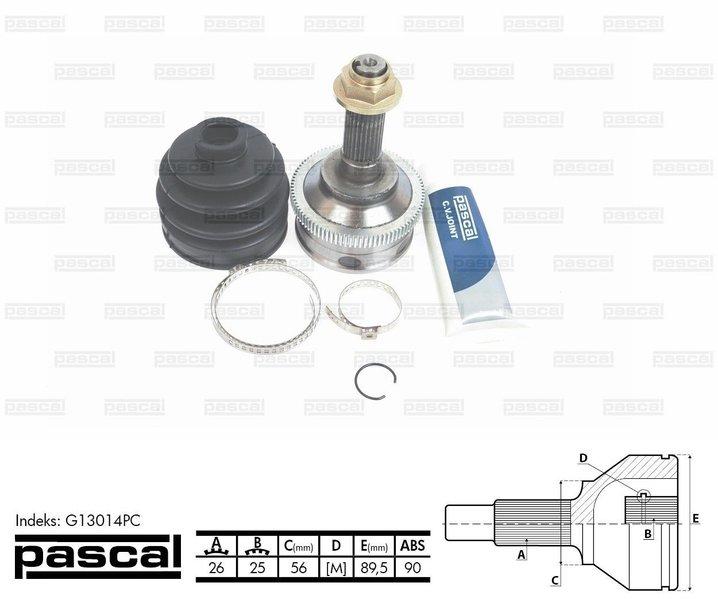 Przegub napędowy zewnętrzny PASCAL G13014PC - darmowa dostawa do 5000 warsztatów Motointegrator Partner i 170 sklepów Inter Cars