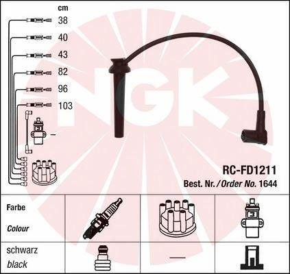 Zestaw przewodów zapłonowych NGK 1644