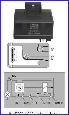 Sterownik/przekaźnik świec żarowych HUCO 132082