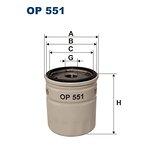 Filtr oleju FILTRON OP551