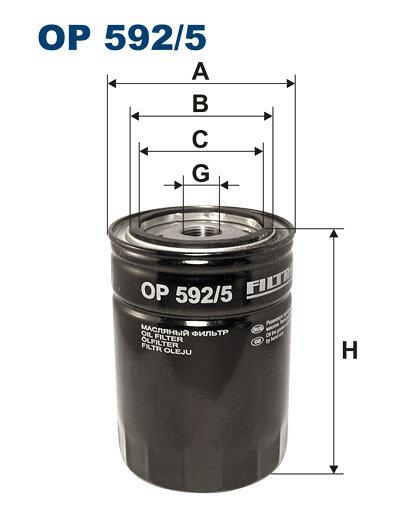 Filtr oleju FILTRON OP592/5