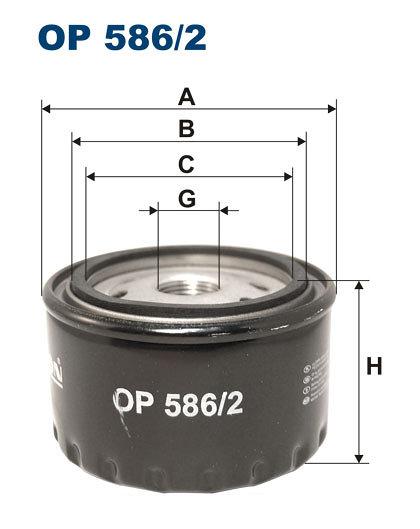 Filtr oleju FILTRON OP586/2 - darmowa dostawa do 5000 warsztatów Motointegrator Partner i 170 sklepów Inter Cars