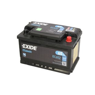 Akumulator EXIDE CLASSIC EC652 - 65Ah 540A P+ - Montaż w cenie przy odbiorze w warsztacie!
