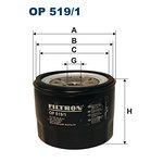 Filtr oleju FILTRON OP519/1
