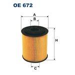 Filtr oleju FILTRON OE672