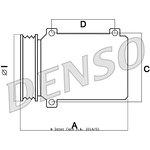 Kompresor klimatyzacji DENSO DCP23030