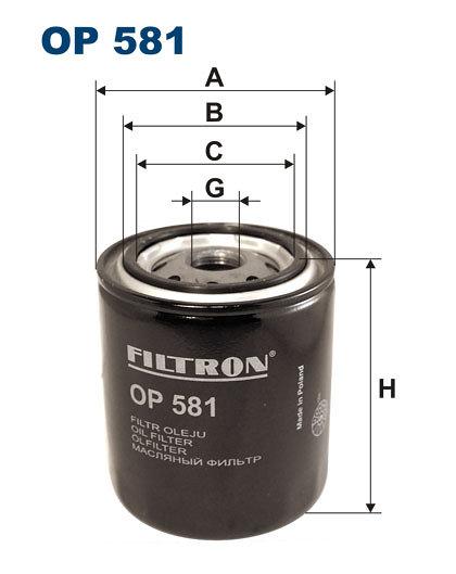 Filtr oleju FILTRON OP581 - darmowa dostawa do 5000 warsztatów Motointegrator Partner i 170 sklepów Inter Cars