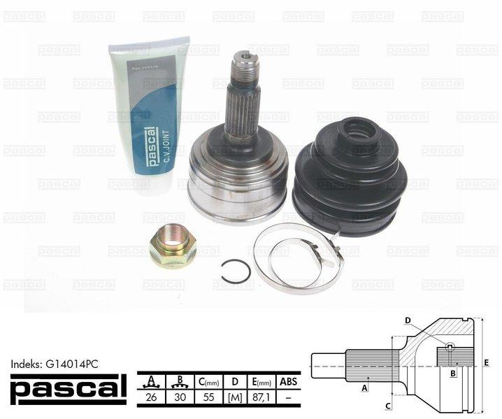 Przegub napędowy zewnętrzny PASCAL G14014PC - darmowa dostawa do 5000 warsztatów Motointegrator Partner i 170 sklepów Inter Cars