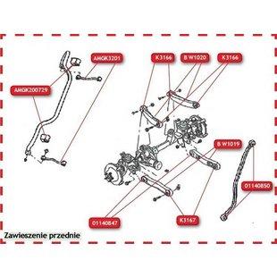 Łącznik drążka stabilizatora MOOG AMGK3201