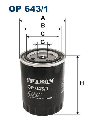 Filtr oleju FILTRON OP643/1 - darmowa dostawa do 5000 warsztatów Motointegrator Partner i 170 sklepów Inter Cars