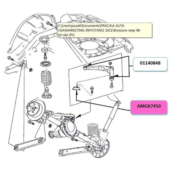 Sworzeń wahacza MOOG AMGK7450 - darmowa dostawa do 5000 warsztatów Motointegrator Partner i 170 sklepów Inter Cars