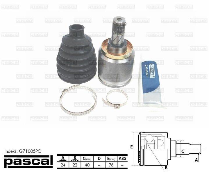 Przegub napędowy zewnętrzny PASCAL G71005PC - darmowa dostawa do 5000 warsztatów Motointegrator Partner i 170 sklepów Inter Cars