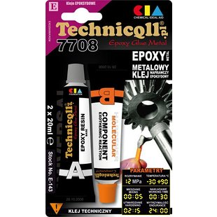 Klej epoksydowy TECHNICQLL Epoxy Glue Metal, 2 x 20 ml