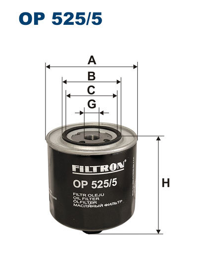 Filtr oleju FILTRON OP525/5 - darmowa dostawa do 5000 warsztatów Motointegrator Partner i 170 sklepów Inter Cars