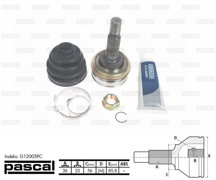 Przegub napędowy zewnętrzny PASCAL G12005PC - darmowa dostawa do 5000 warsztatów Motointegrator Partner i 170 sklepów Inter Cars