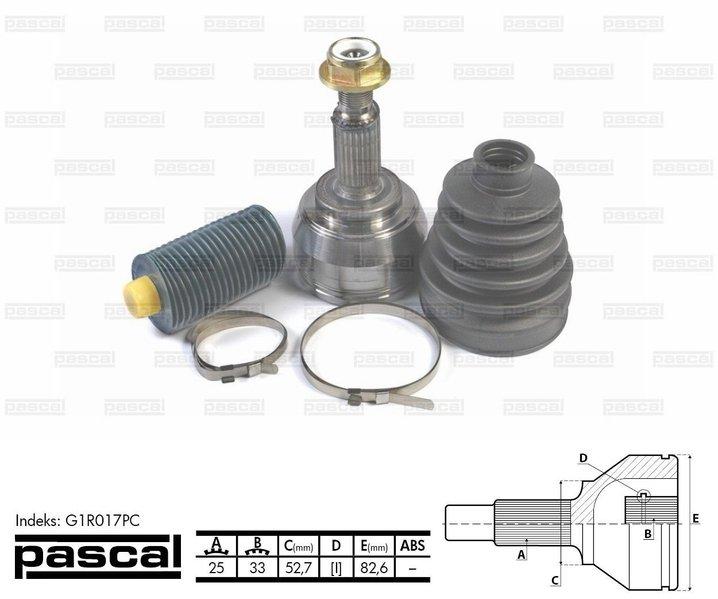 Przegub napędowy zewnętrzny PASCAL G1R017PC - darmowa dostawa do 5000 warsztatów Motointegrator Partner i 170 sklepów Inter Cars