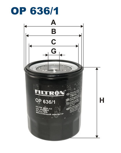 Filtr oleju FILTRON OP636/1 - darmowa dostawa do 5000 warsztatów Motointegrator Partner i 170 sklepów Inter Cars