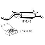 Tłumik układu wydechowego EBERSPACHER 17.0.43