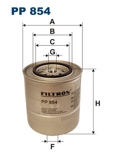 Filtr paliwa FILTRON PP854 - darmowa dostawa do 5000 warsztatów Motointegrator Partner i 170 sklepów Inter Cars