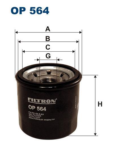 Filtr oleju FILTRON OP564 - darmowa dostawa do 5000 warsztatów Motointegrator Partner i 170 sklepów Inter Cars
