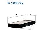 Filtr kabiny FILTRON K1208-2x