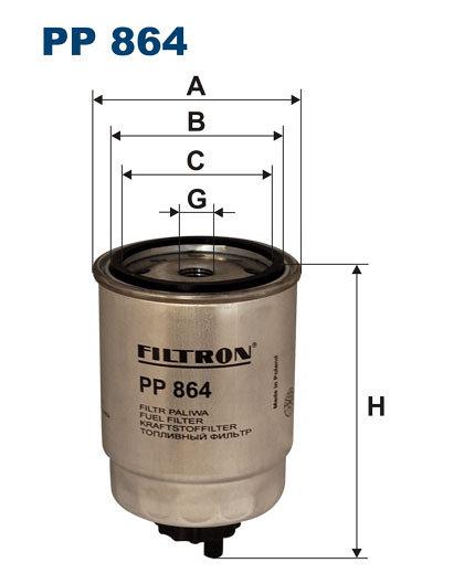 Filtr paliwa FILTRON PP864 - darmowa dostawa do 5000 warsztatów Motointegrator Partner i 170 sklepów Inter Cars