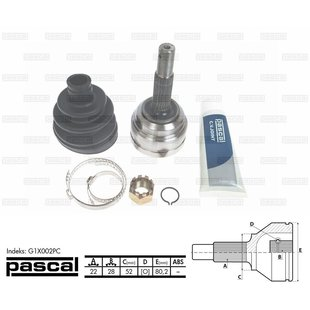 Przegub napędowy zewnętrzny PASCAL G1X002PC