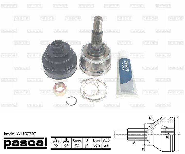 Przegub napędowy zewnętrzny PASCAL G11077PC - darmowa dostawa do 5000 warsztatów Motointegrator Partner i 170 sklepów Inter Cars