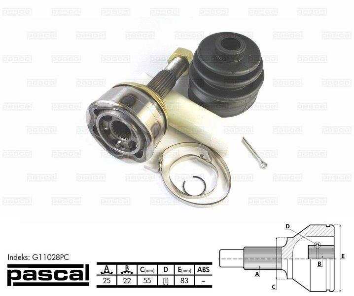 Przegub napędowy zewnętrzny PASCAL G11028PC - darmowa dostawa do 5000 warsztatów Motointegrator Partner i 170 sklepów Inter Cars